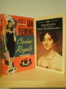 My copies of 'Casino Royale' and 'Pride and Prejudice'
