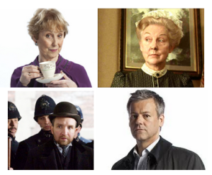 Mrs Hudson played by Una Stubbs and Rosalie Williams, Inspector Lestrade played by Eddie Marsan and Rupert Graves