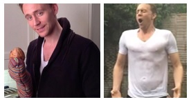 Tom Hiddleston during Live Below the Line and ALS Ice Bucket Challenge